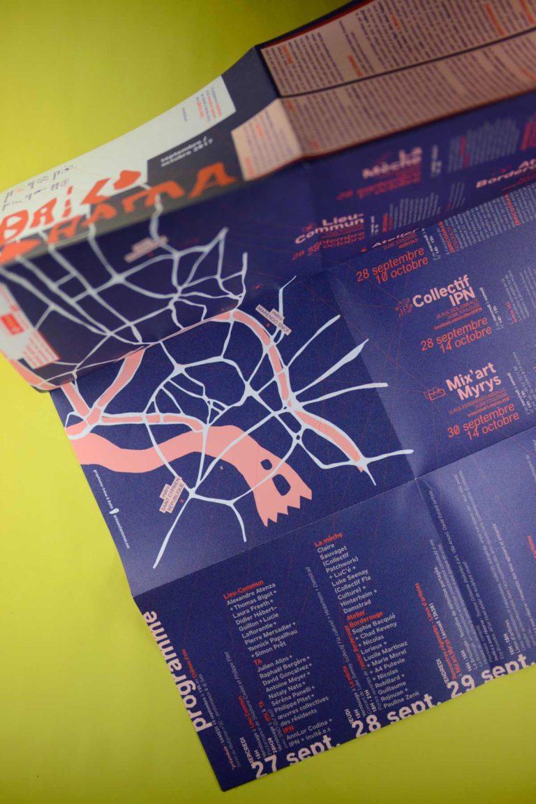 Réalisé avec Les presses Fantômes - Dépliant 16 pages / 60.00 x 40.00 cm / Couché moderne demi-mat 135 g/m2 / Quadri recto/verso - 1500 exemplaires