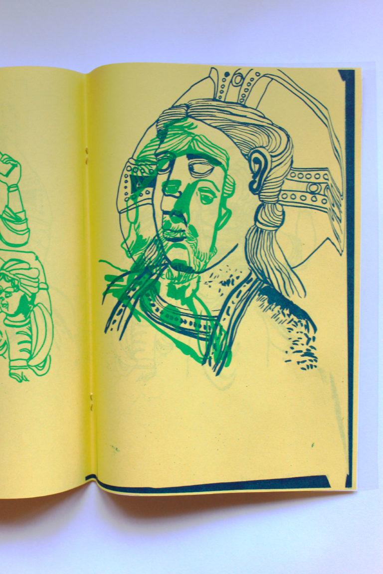 Mars 2013 | Livret de 8 pages. | Dessins + Impression + Façonnage | Impressions en riso 2 couleurs / Cahier agraphé / A4/ Impressions et surimpressions. Araignée, araignée, quel drôle de nom, pourquoi pas mouche ou papillon ?